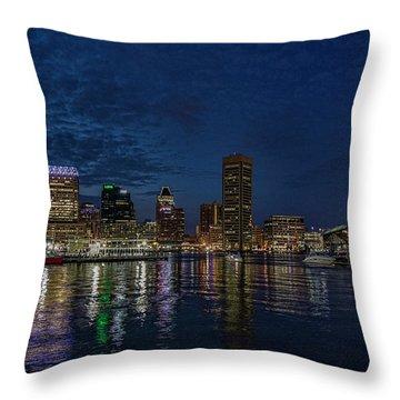 Baltimore Harbor Throw Pillow
