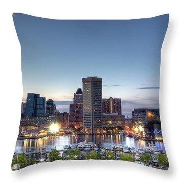Baltimore Harbor Throw Pillow