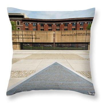Baltimore Holocaust Memorial Throw Pillow