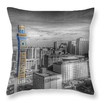 Baltimore Landscape - Bromo Seltzer Arts Tower Throw Pillow