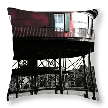 Baltimore Lighthouse Throw Pillow