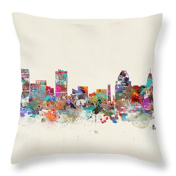 Baltimore Maryland Cityscape Throw Pillow