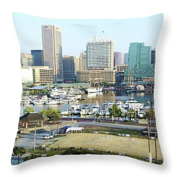 Throw Pillow featuring the photograph Baltimore's Inner Harbor by Brian Wallace