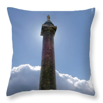Throw Pillow featuring the photograph Baltimore's Washington Monument by Brian Wallace