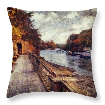 Balustrades And Boats Throw Pillow