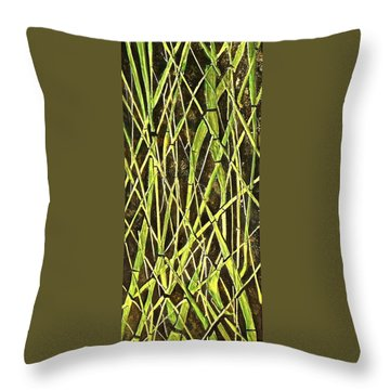 Bambo Garden Throw Pillow