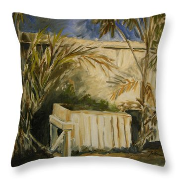 Bamboo And Herb Garden Throw Pillow