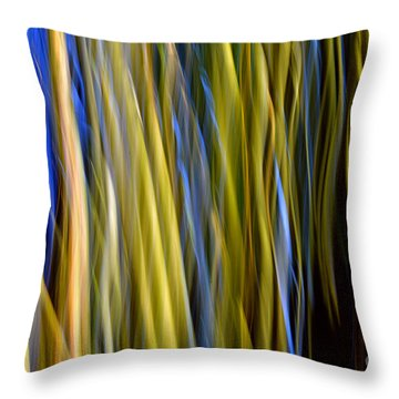 Bamboo Flames Throw Pillow