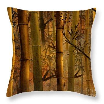 Bamboo Heaven Throw Pillow