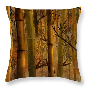 Bamboo Heaven Throw Pillow