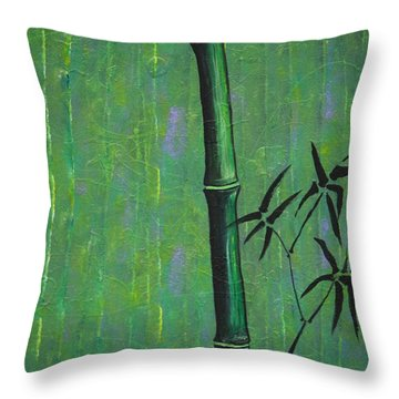 Bamboo Throw Pillow by Jacqueline Athmann