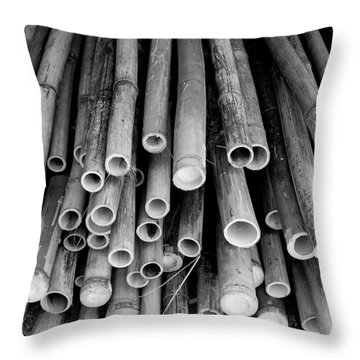 Throw Pillow featuring the photograph Bamboo  by Jingjits Photography