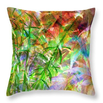 Bamboo Paradise Throw Pillow
