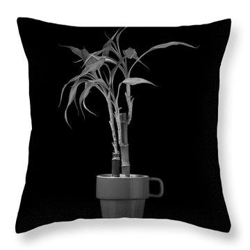 Bamboo Plant Throw Pillow