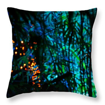 Bamboo Riot Throw Pillow
