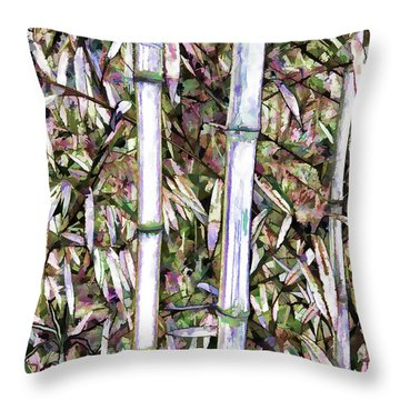 Bamboo Stalks Throw Pillow by Lanjee Chee
