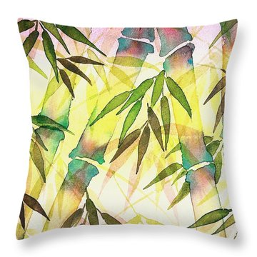 Bamboo Sunrise Throw Pillow