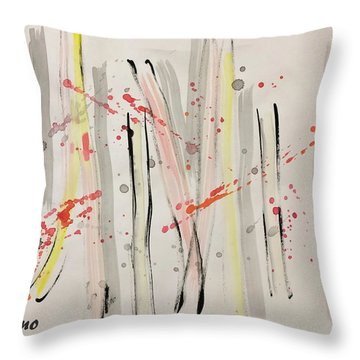 Bamboo2 Throw Pillow