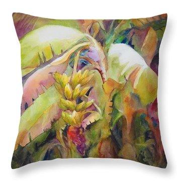 Banana Bay I Throw Pillow