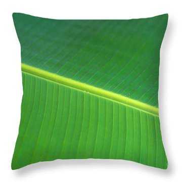 Banana Leaf Throw Pillow by Dana Edmunds - Printscapes