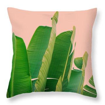 Banana Leaves Throw Pillow by Rafael Farias