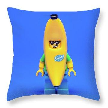 Banana Man Throw Pillow by Samuel Whitton