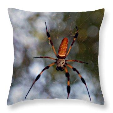 Banana Spider 2 Throw Pillow