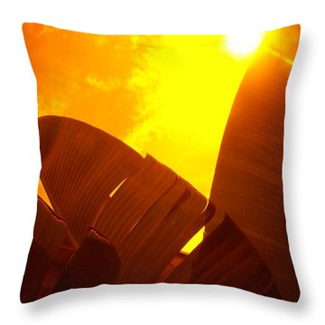 Banana Sun Throw Pillow