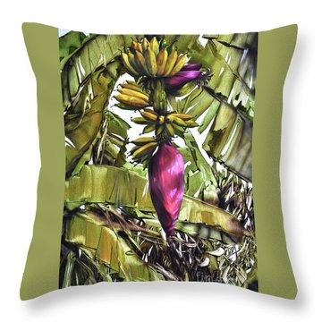 Banana Tree No.2 Throw Pillow