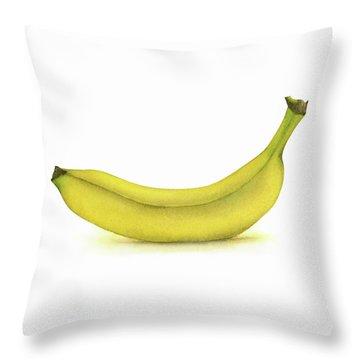 Banana Watercolor Throw Pillow
