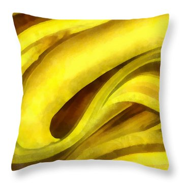 Throw Pillow featuring the digital art Banana With Chocolate by Francesa Miller