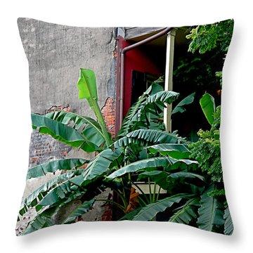 Bananas And Bricks Throw Pillow