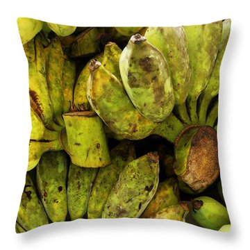 Bananas At Market Throw Pillow