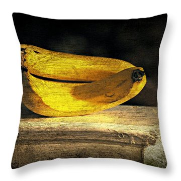 Throw Pillow featuring the photograph Bananas Pedestal by Diana Angstadt