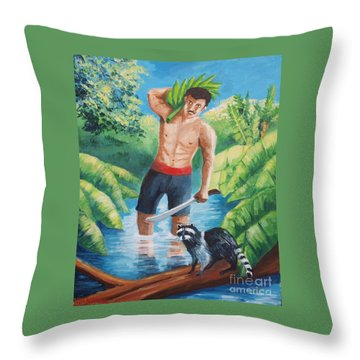 Bananas Harvest Throw Pillow