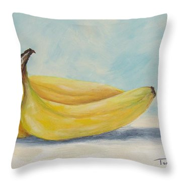 Bananas V Throw Pillow