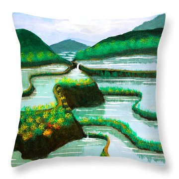 Banaue Throw Pillow