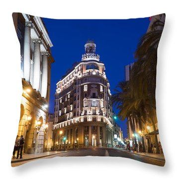 Banco De Valencia Throw Pillow