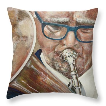 Band Man Throw Pillow by Marty Garland