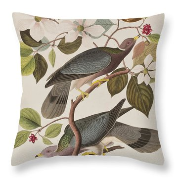 Band-tailed Pigeon  Throw Pillow by John James Audubon
