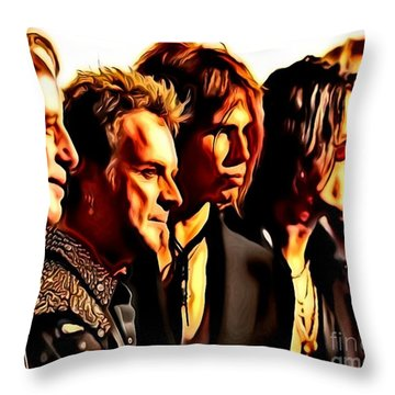Band Who Throw Pillow