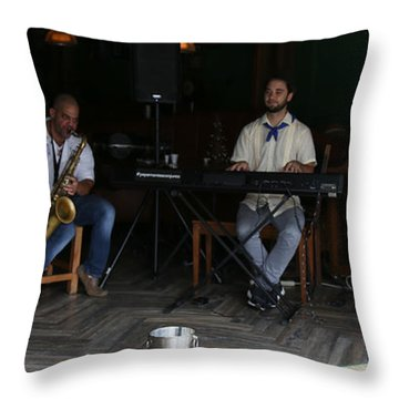 Band With Pink Girl Throw Pillow