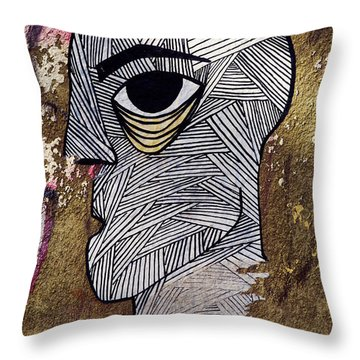 Bandage Man Throw Pillow