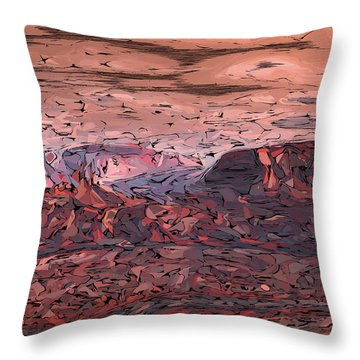 Banded Canyon Abstract Throw Pillow