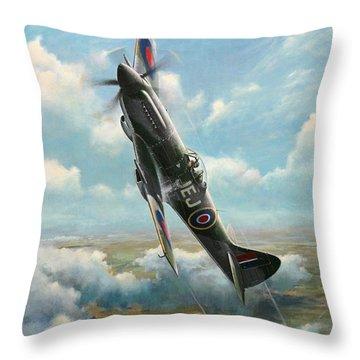'bandits At 3 O'clock High' Throw Pillow by Colin Parker