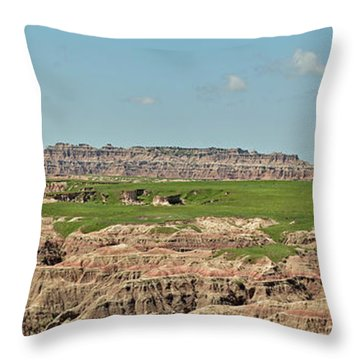 Badlands Panorama Throw Pillow