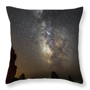 Bandon And Milky Way Throw Pillow