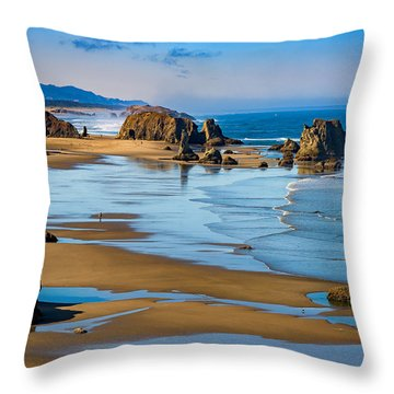 Bandon Beach Throw Pillow