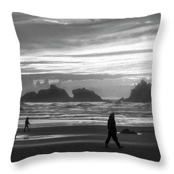 Bandon Beachcombers Throw Pillow