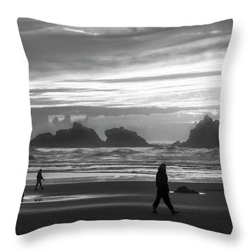 Bandon Beachcombers Throw Pillow